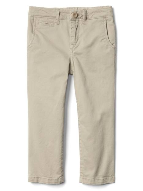 Solid stretch khakis