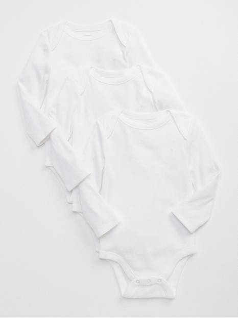 Baby First Favorite Long Sleeve Bodysuit (3-Pack)