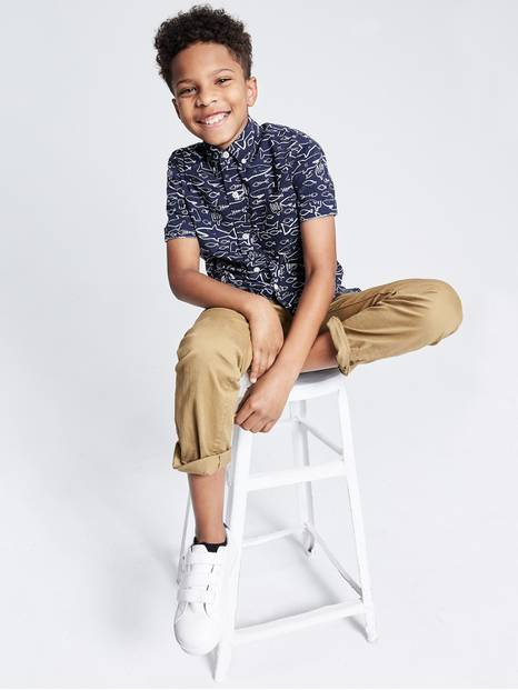 Kids Slim straight fit khakis