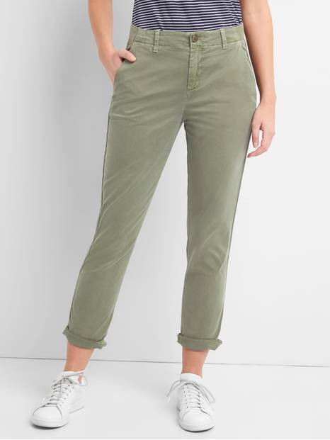 Girlfriend Twill Stripe Chinos