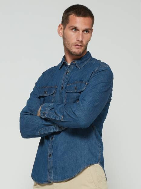 Worker Shirt in Wearlight Denim