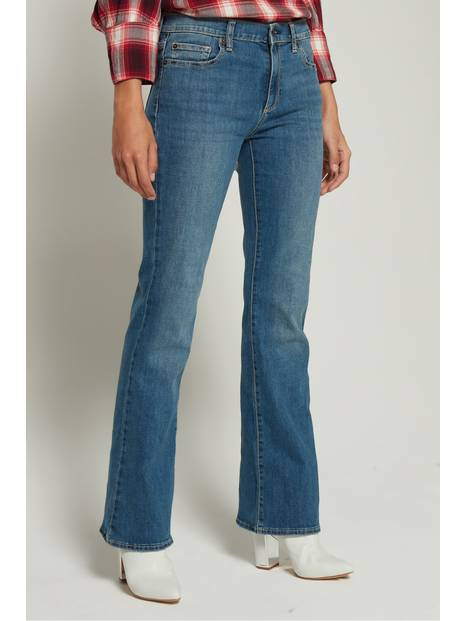 Mid Rise Boot Jeans in Stretch