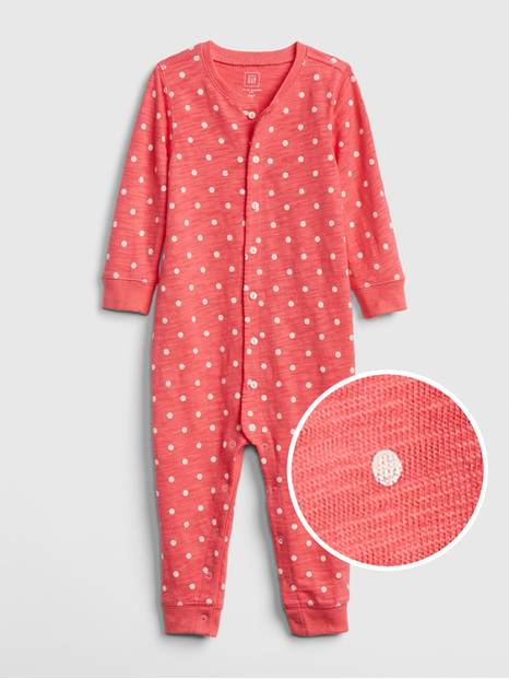 Baby Print Long Sleeve One-Piece