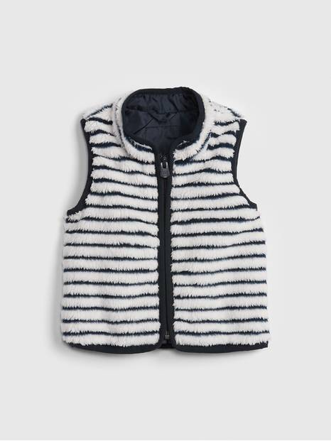 Baby Stripe Faux-Fur Vest