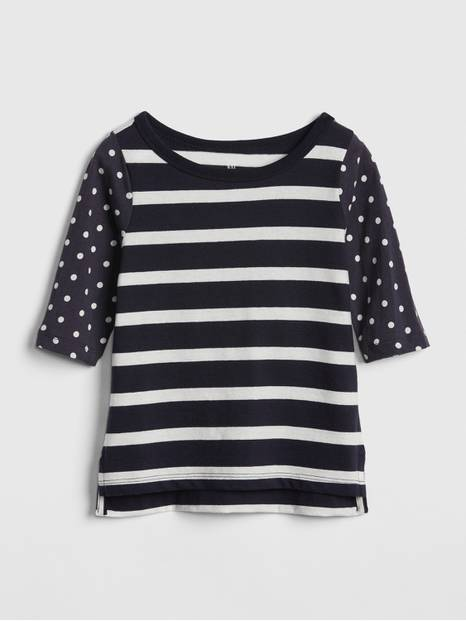 Toddler Print Elbow-Length Boxy T-Shirt