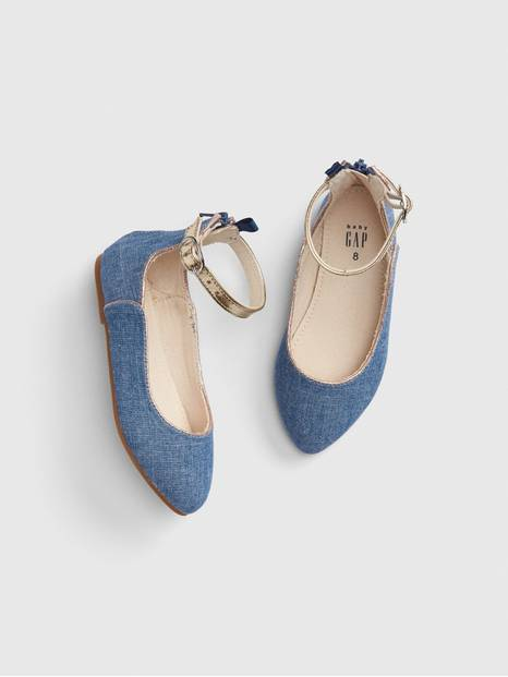 Toddler Chambray Ballet Flats