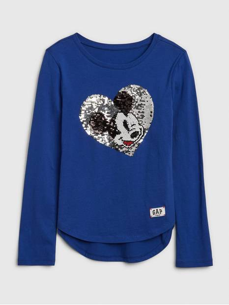 GapKids &#124 Disney Mickey Mouse Flippy Sequin Logo T-Shirt