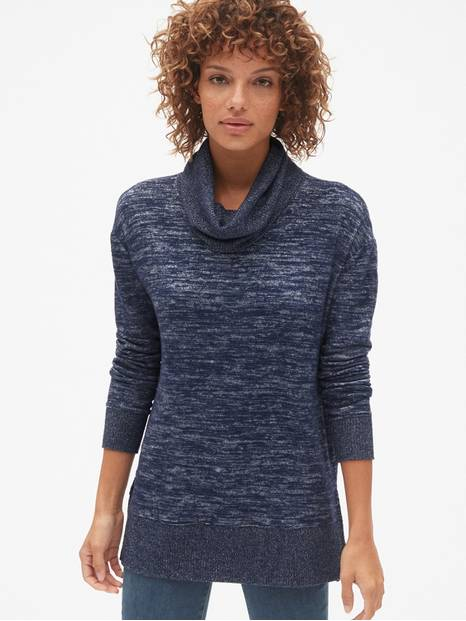 Softspun Cowl-Neck Pullover Sweater
