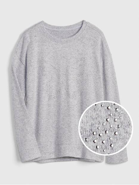 Softspun Studded Graphic Long Sleeve T-Shirt