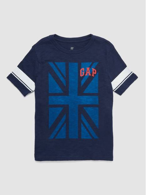 Kids Gap Logo Flag Short Sleeve T-Shirt