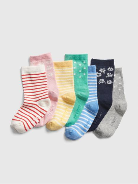 Toddler Print Days-Of-The-Week Crew Socks (7-Pack)