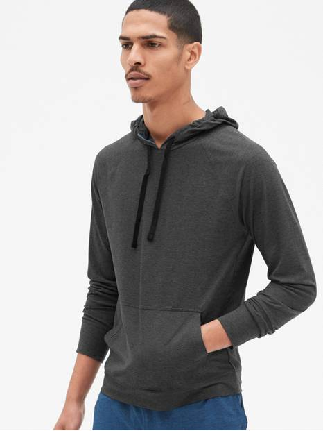 GapFit Brushed Tech Jersey Pullover Hoodie