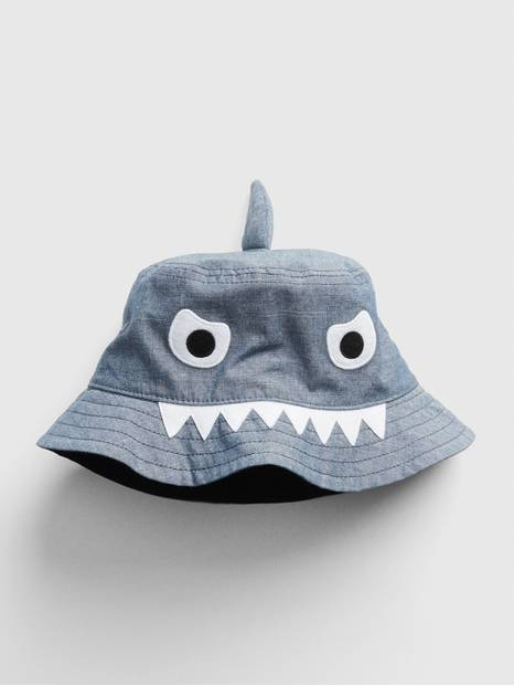 Toddler Chambray Shark Bucket Hat