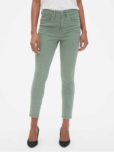 High Rise True Skinny Ankle Jeans in Color