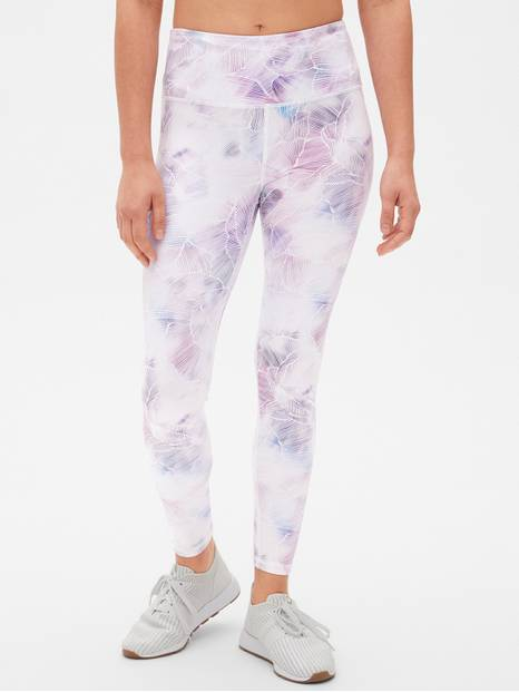 GapFit High Rise Blackout Print Full Length Leggings