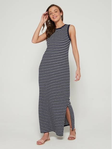 Maxi Dress in Slub
