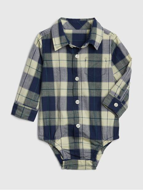 Baby Plaid Long Sleeve Bodysuit