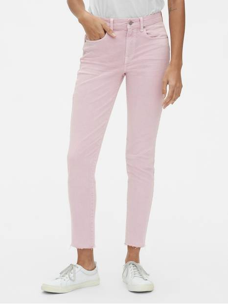 Mid Rise True Skinny Ankle Jeans in Lilac