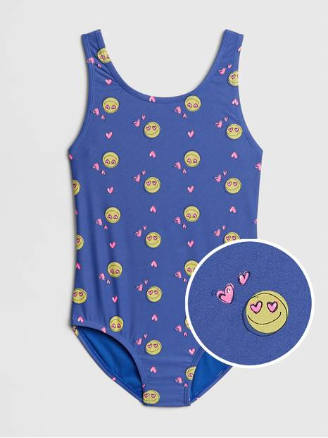 Kids Emoji Swim One-Piece