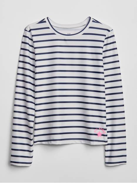 Kids Stripe Long Sleeve Rashguard