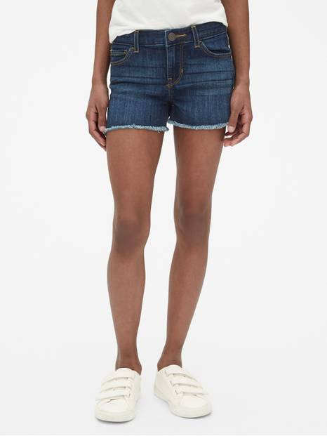 Kids Raw Hem Shortie Shorts