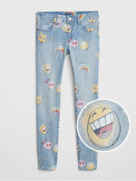 Kids Emoji Super Skinny Jeans with Fantastiflex