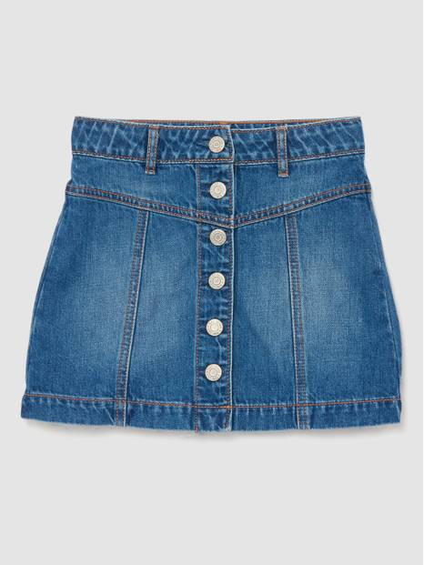 Kids Denim Button-Front Skirt