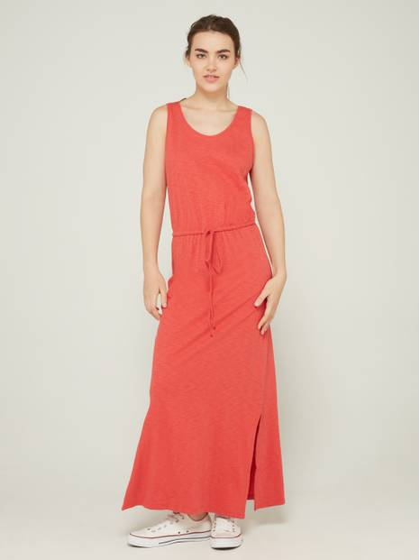 Tie-Waist Sleeveless Maxi Dress