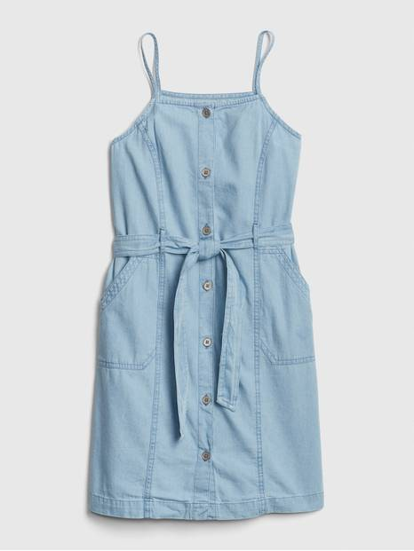 Kids Button-Front Denim Dress