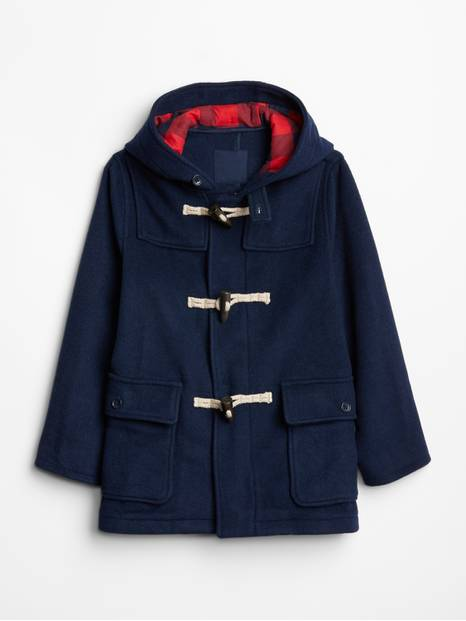 Kids Wool-Blend Duffle Coat