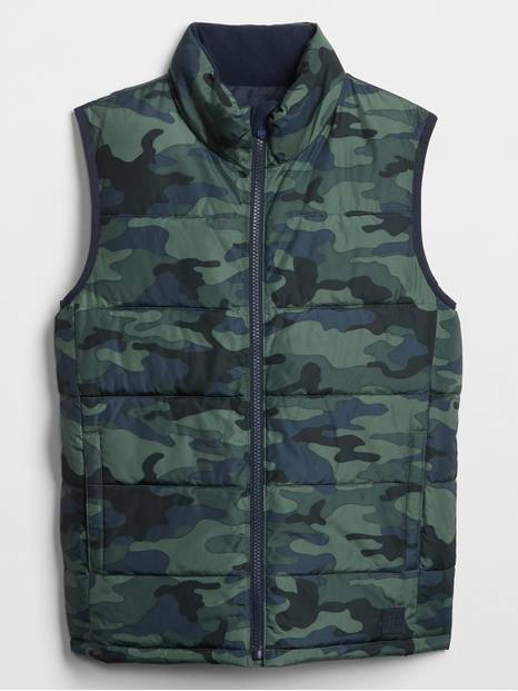 Kids Print Warmest Vest