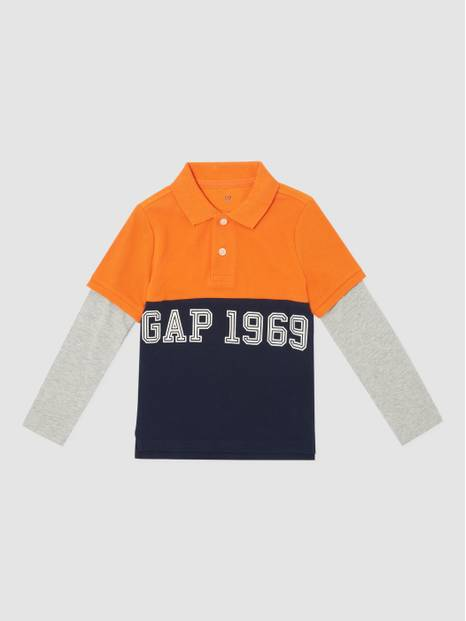 Kids Two-In One Long Sleeves Polo T-Shirt