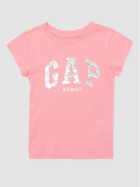 Kids Gap Logo Flippy Sequins City T-Shirt