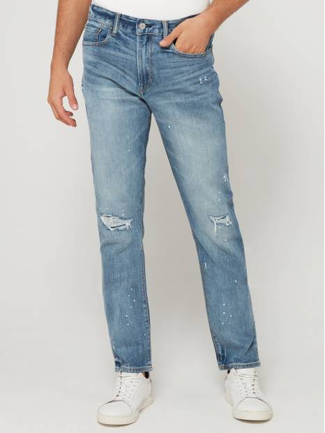 Rip & Repair Skinny Jeans with GapFlex