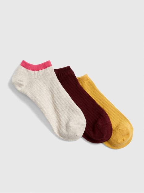 Ribbed Ankle Socks (3-Pack)
