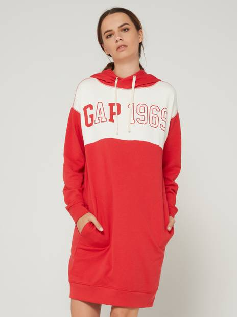 Logo Sweater Hooded Dress