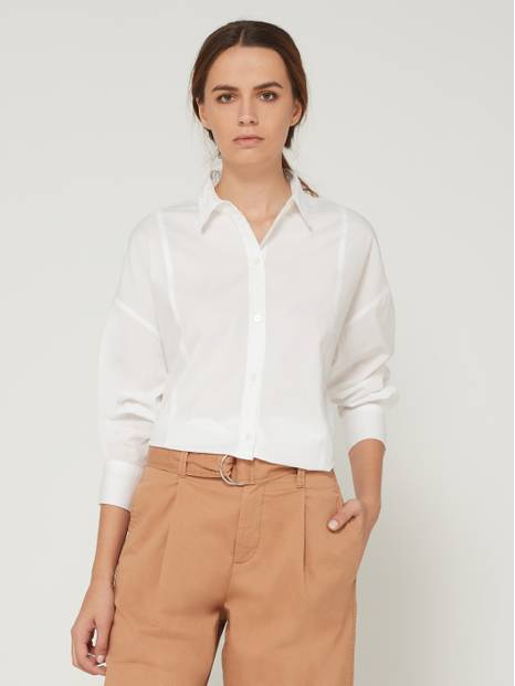 High-Low Hem Long Sleeve Shirt