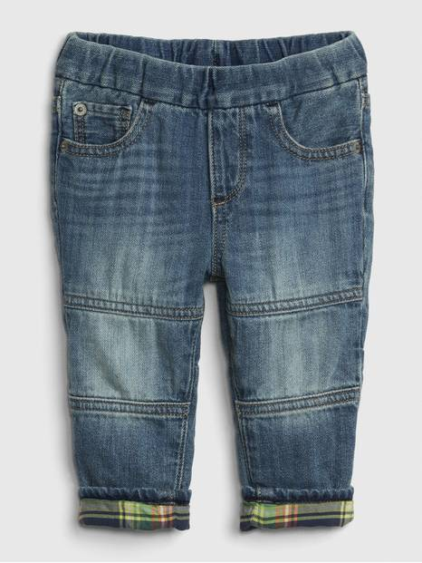Baby Pull-On Lined Slim Jeans
