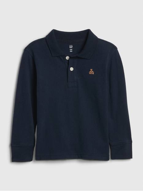 Toddler Long Sleeve Polo Shirt