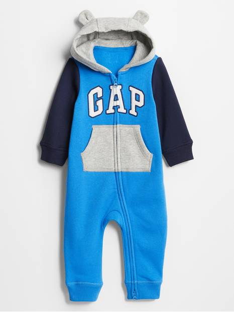 Baby Gap Logo Colorblock Hoodie One-Piece