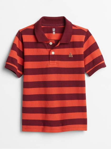 Toddler Stripe Pique Polo Shirt