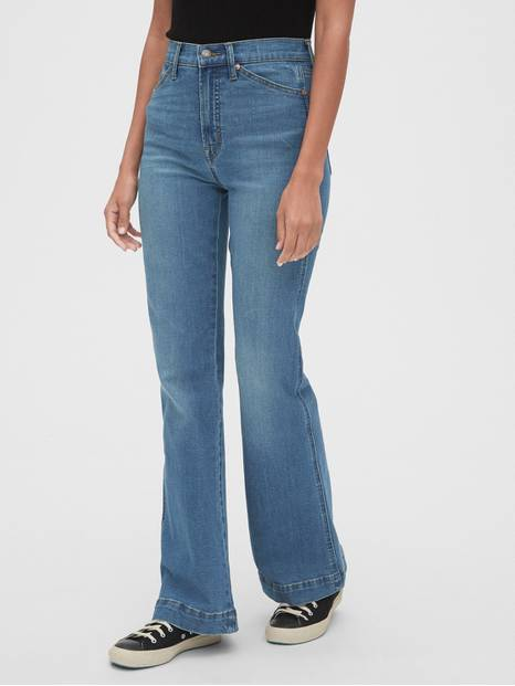 High Rise Flare Jeans with Secret Smoothing Pockets