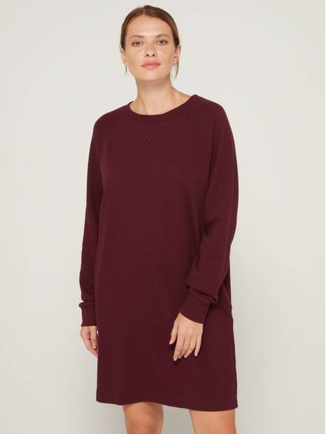 Crewneck Long Sleeve Sweatshirt Dress