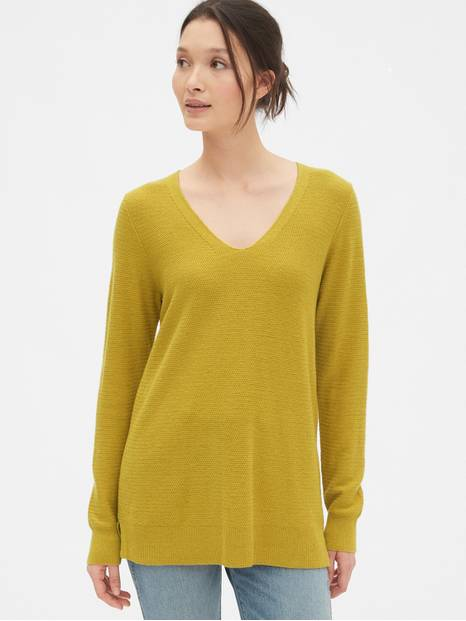 True Soft Textured V-Neck Sweater