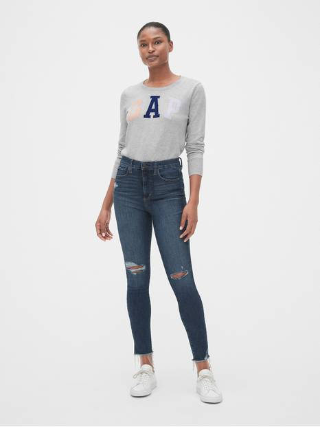 Gap Arch Logo Crew Neck Pullover Sweater