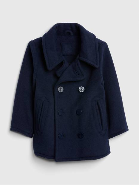 Toddler Wool-Blend Peacoat