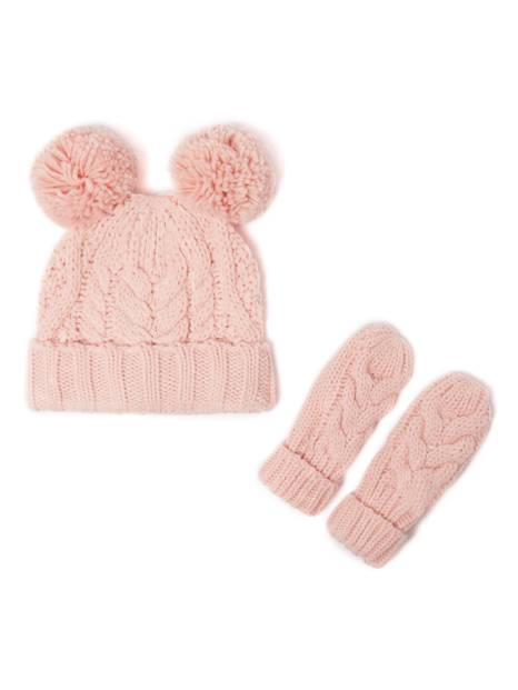 BabyGap Pom-Pom Cable-Knit Beanie Set