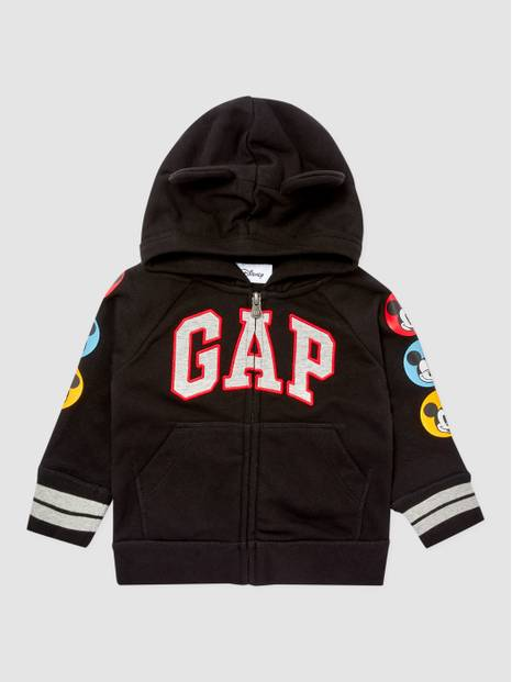 ToddlerGap Disney Mickey Mouse Ear Appliqué Hoodie