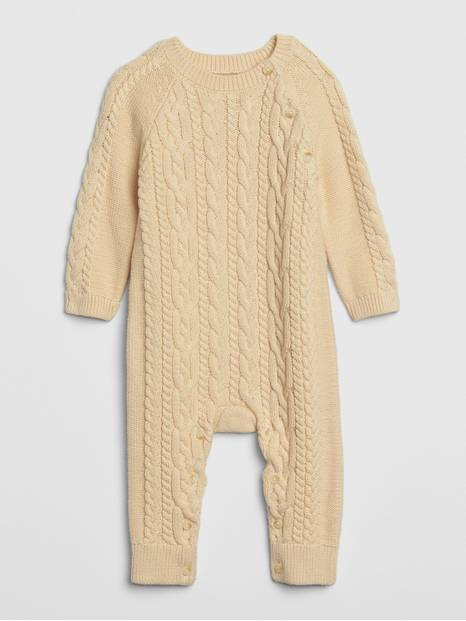Baby Cable-Knit One-Piece