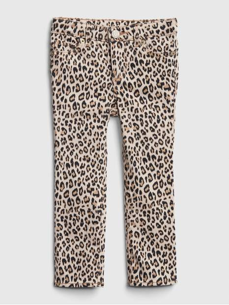 Toddler Leopard Super Skinny Jeans with Fantastiflex